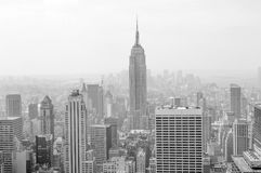 New York skyline in sepia royalty free stock image