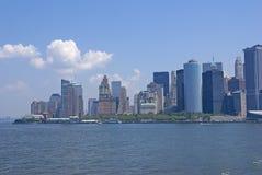 New York Skyline, from Staten Island Ferry Royalty Free Stock Photos