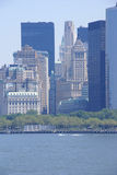 New York Skyline, from Staten Island Ferry Stock Images