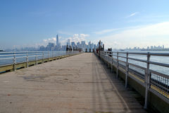 New york. And skyline in summer Stock Photos