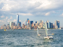 The New York skyline on a summer day Royalty Free Stock Photos