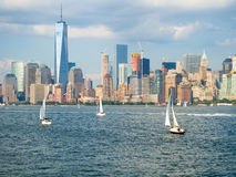 The New York skyline on a summer day Stock Photos