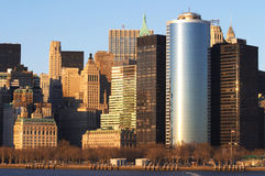 New York skyline at sunrise Stock Images