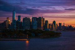 New York Skyline Sunrise Stock Photos