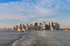 New York skyline at sunset Stock Photo
