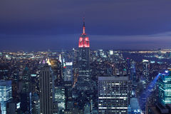 New York skyline at twilight Royalty Free Stock Photography