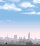 New York Skyline. Vector USA landscape. Cityscape in the early morning. Royalty Free Stock Photo