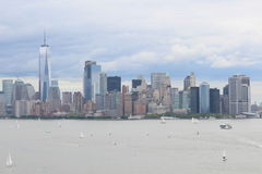 New York Skyline. A View of the New York Skyline from New Jersey Royalty Free Stock Photos