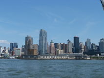 New York Skyline. View of manhattan from the circle line cruise Royalty Free Stock Photography