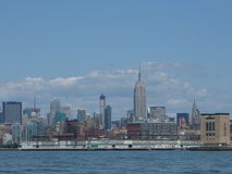 New York Skyline. View of manhattan from the circle line cruise Stock Images