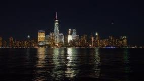 New York Skylines at Night Royalty Free Stock Photos