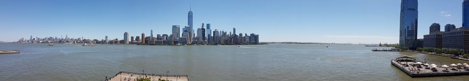 New York Skylines Panorama View. New York City, America Stock Photography