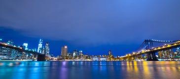 New York Skylinet, USA Arkivfoto