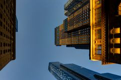 New York Skyscraper Skyline View Megacity Twilight. Photo taken in New York USA, August 2017: New York New York Skyscraper Skyline View Megacity Twilight Royalty Free Stock Image
