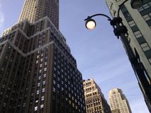 New York Skyscraper. A view of New York city looking up at the beautiful skyscrapers Royalty Free Stock Photography