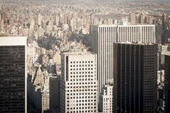 New York skyscrapers aerial view royalty free stock image