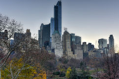 New York Skyscrapers from Central Park Stock Photos