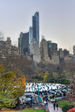 New York Skyscrapers from Central Park Royalty Free Stock Images