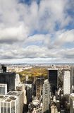 New York skyscrapers and Central Park royalty free stock image