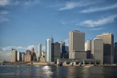 New York skyskrapor på Manhattan Arkivbild