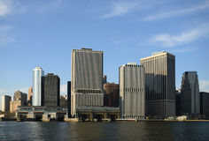 New York skyskrapor på Manhattan Royaltyfria Foton