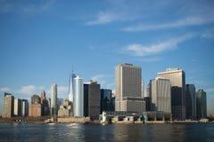 New York skyskrapor på Manhattan Arkivfoton