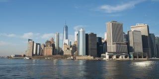 New York skyskrapor på Manhattan Fotografering för Bildbyråer