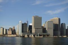 New York skyskrapor på Manhattan Arkivfoto
