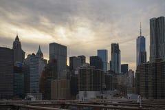 New York skyskrapor på Manhattan Arkivbilder