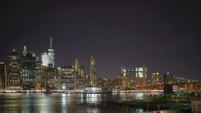 New York skyskrapor på Manhattan Royaltyfri Bild