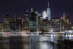 New York skyskrapor på Manhattan Royaltyfria Bilder