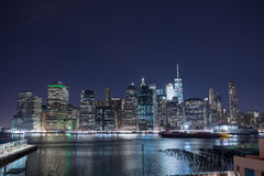 New York skyskrapor på Manhattan Royaltyfri Foto