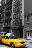 New York Soho buildings yellow cab taxi NYC USA Royalty Free Stock Images