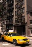 New York Soho buildings yellow cab taxi NYC USA Stock Photo