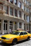 New York Soho buildings yellow cab taxi NYC USA Royalty Free Stock Photo