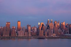 New York am Sonnenuntergang Stockbild