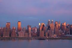 New York am Sonnenuntergang stockbild