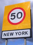 New York speed sign Royalty Free Stock Photo