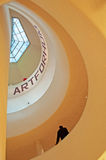 New York: spiral ramp and trasparent dome of Guggenheim Museum on September 17, 2014 Royalty Free Stock Images