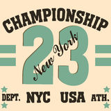 New york sport t-shirt Royalty Free Stock Images