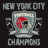 New York Sport Typography, Football Logo Stock Images