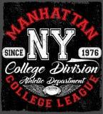 New York Sport wear typography emblem, american football,vintage Royalty Free Stock Photography
