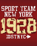 New York sports team. A poster design for New York sports team Stock Images