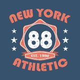 New York. Sportswear typography print, t-shirt stamp graphics, athletic apparel design. Vector. New York. Sportswear typography print, t-shirt stamp graphics Royalty Free Stock Photography