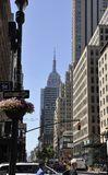 New York, 2st July: Empire State Building in Midtown Manhattan from New York City in United States Royalty Free Stock Photos