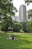 New York, 1st July: People Relaxing in Central Park in Midtown Manhattan from New York City in United States Stock Photos