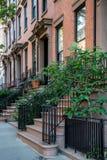 New York stad/USA - JULI 10 2018: Gamla byggnader av Brooklyn H Royaltyfri Fotografi