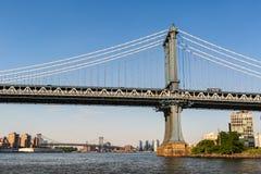 New York stad/USA - JULI 10 2018: Lyxiga byggnader och diversehandel Royaltyfri Fotografi