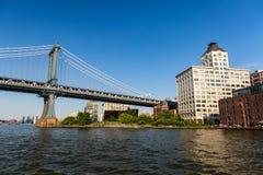New York stad/USA - JULI 10 2018: Lyxiga byggnader och diversehandel Royaltyfria Foton