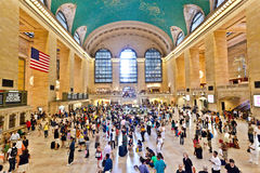 Großartige zentrale Station während der NachmittagsHauptverkehrszeit Lizenzfreie Stockfotografie